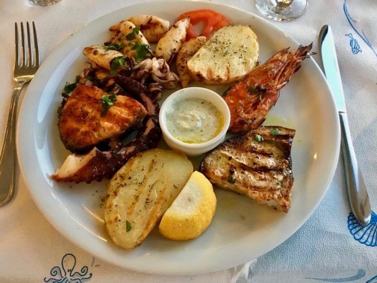 mix grill fish plate